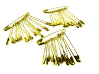 ASSORTED YELLOW DAILY SAFETY PINS in BUNCHES of 12