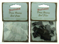 NYLON BONING END CAPS - 8mm or 12mm - In BLACK or WHITE - ThreadandTrimmings