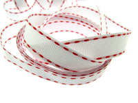 3m x 15mm Grosgrain with Woven and Contrasting Stitched Edge
