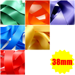 "** 38mm (1.5"") DOUBLE SIDED SATIN POLYESTER RIBBON with WOVEN EDGE 27 COLOURS"