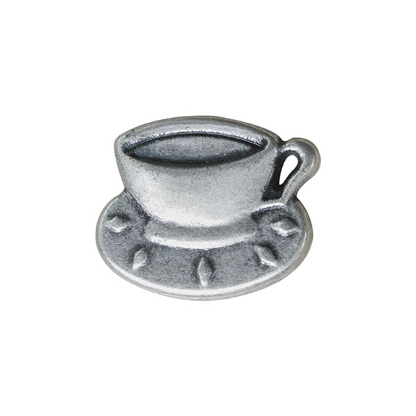 Antique Silver Metal Teacup Button - ThreadandTrimmings
