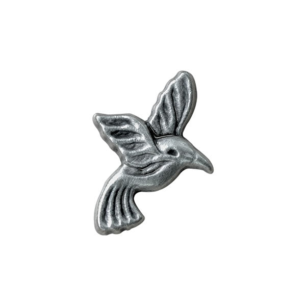 Antique Silver Metal Bird Button - ThreadandTrimmings