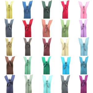 "16"" Concealed Invisible Zips in 30 Fantastic Colours -  Invisible Zippers"