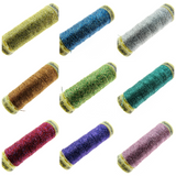 ** GUTERMANN METALLIC EFFECT SEWING THREAD 50m REELS / LUREX THREAD / 12 COLOURS - ThreadandTrimmings
