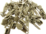 Zip Sliders with Pullers / Beige Sliders - fits continuous zip chain in my shop - ThreadandTrimmings