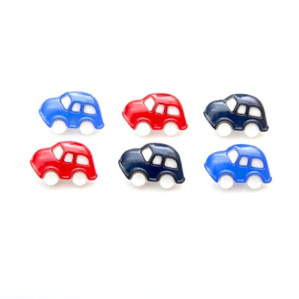 CAR BUTTONS - 12mm CHILDRENS / BABY / VW BEETLE BUG CAR BUTTONS