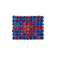 DIAMANTE UNION JACK SHANK BUTTON - 20mm x 15mm - PATRIOTIC BUTTONS