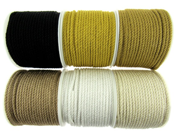 2m x 4mm Lacing Cord - Rayon (Viscose & Cotton) - ThreadandTrimmings