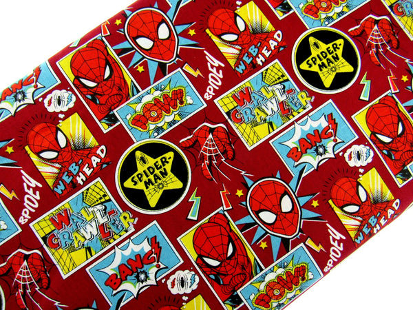 "** SPIDER MAN ""OUTSIDE / INSIDE THE BOX""  FABRIC - 100% COTTON"