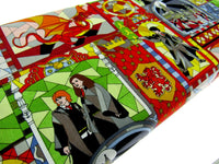 "** HARRY POTTER ""STAINED GLASS WINDOW"" FABRIC - 100% COTTON"