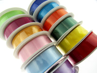 ** Single Sided Satin Ribbon - Full Reel - 20m x 25mm - Reels with Woven Edge