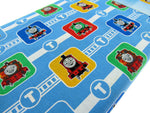 ** Thomas & Friends Character Blocks - 100% COTTON FABRIC - Mid Blue - 2714-05