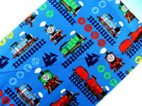 ** Thomas & Friends TRAIN ADVENTURE - 100% COTTON FABRIC - Bright Blue- 2714-04