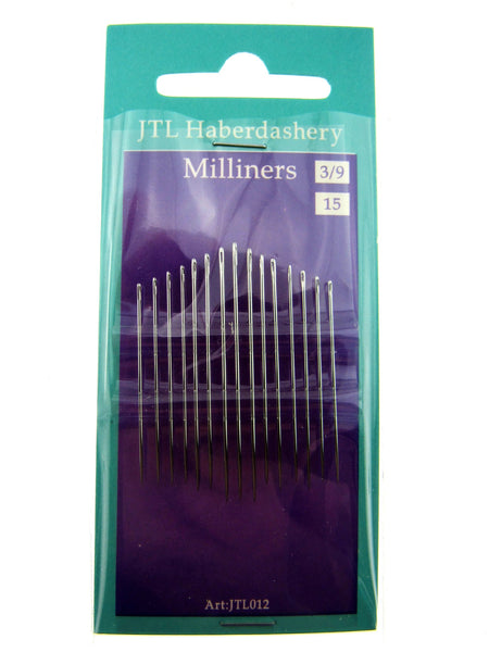 Milliners Hand Sewing Needles 3/9