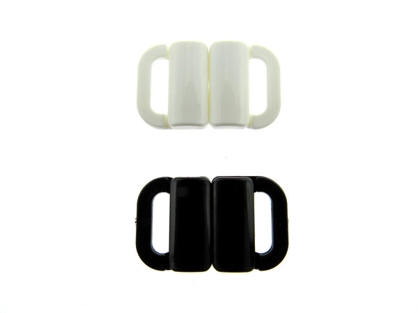 "10mm ""Two Bar"" Bikini Clips - Black or White"