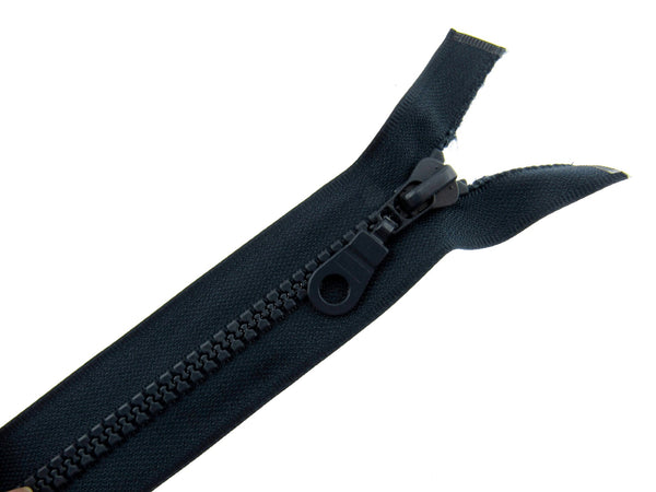 "26"" Navy Plastic Vislon Open End Zip With Round Ring Puller - 5mm Wide Teeth"