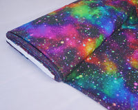 "** SPECKLED GALAXY DIGITALLY PRINTED 100% COTTON FABRIC - LITTLE JOHNNY 59"" WIDE"