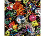 ** CARNIVAL MASK - 100% COTTON FABRIC - BLACK - 135cm - 064EAC