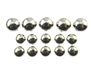 A Set of Silver Blazer Domed Plastic Shank Buttons