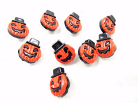 Scary Pumpkin Halloween Buttons With Hat (N8928) - ThreadandTrimmings