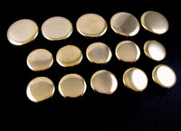 A Set of Plain Polished Metal Gold Blazer Buttons - ThreadandTrimmings