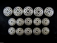 A Set of Antique Oxidized Silver Metal CELTIC Buttons - ThreadandTrimmings