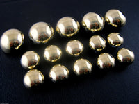 A SET OF GOLD BLAZER DOMED PLASTIC SHANK BUUTTONS B897 - ThreadandTrimmings