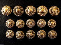 A Set of Antique Gold Swurly Coat Buttons - Turks Head - ThreadandTrimmings