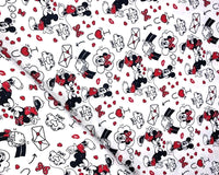 ** DISNEY LOVE LETTERS DIGITALLY PRINTED 100% COTTON FABRIC LITTLE JOHNNY