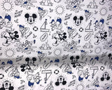 ** DISNEY MICKEY & DONALD DIGITALLY PRINTED 100% COTTON FABRIC LITTLE JOHNNY