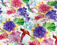 "** TROPICAL PARADISE DIGITALLY PRINTED 100% COTTON FABRIC LITTLE JOHNNY 59"" WIDE"