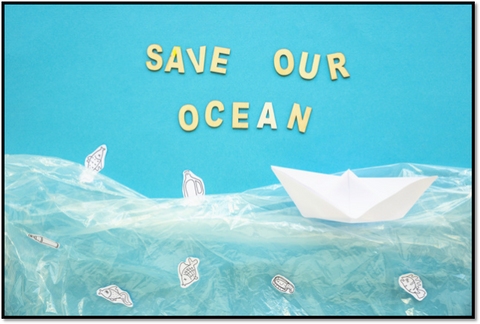 Image showing save the ocean