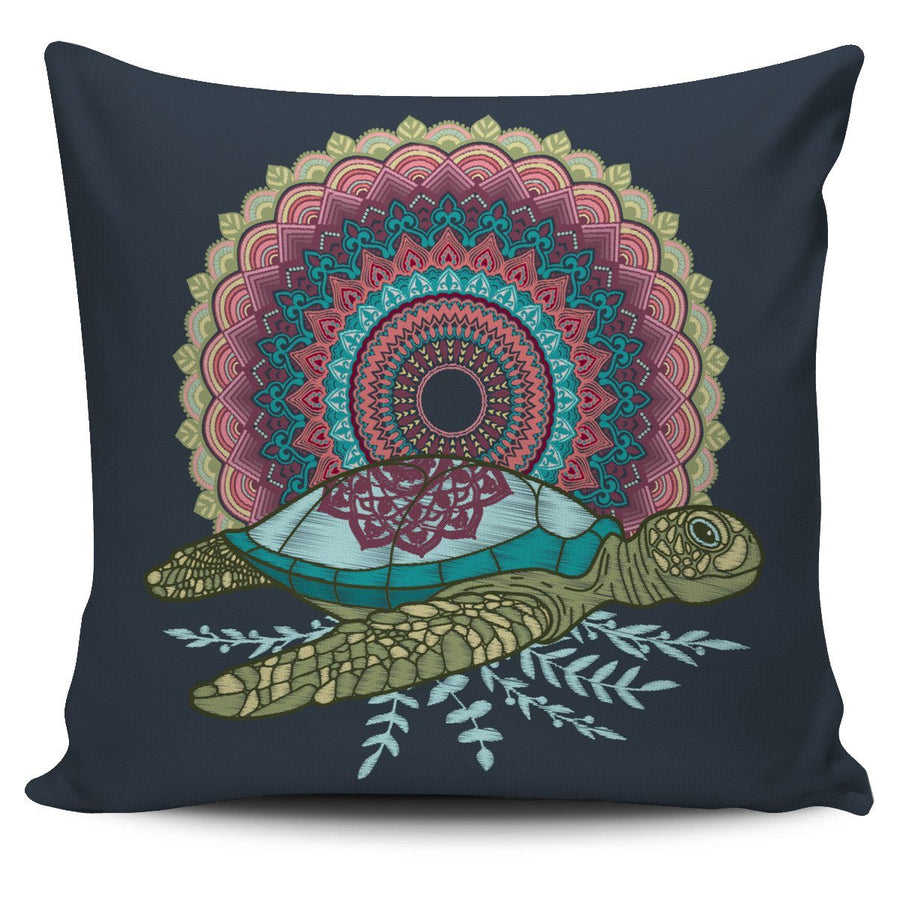 Mandala Sea Turtle - Pillow Cover