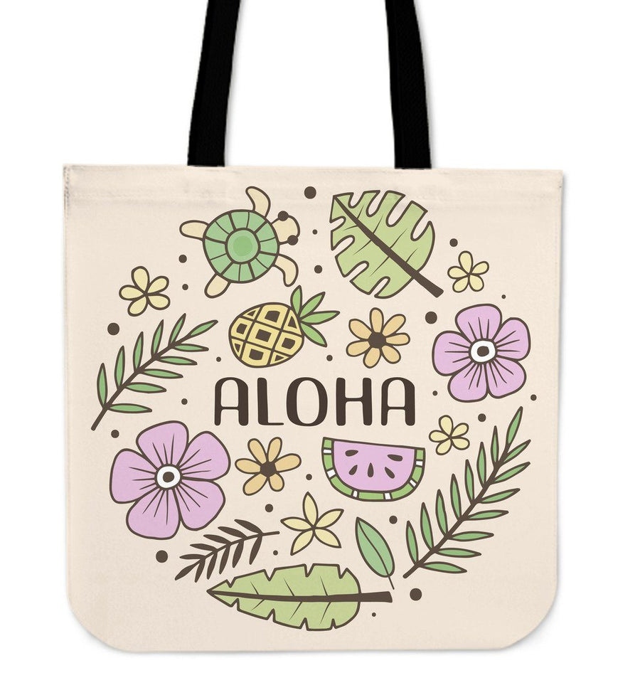 Aloha Sea Turtle - Tote Bag - the ocean vibe Ocean Apparel