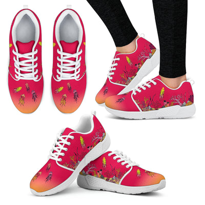 Coral Reef & Jellyfish - Women's Sneakers