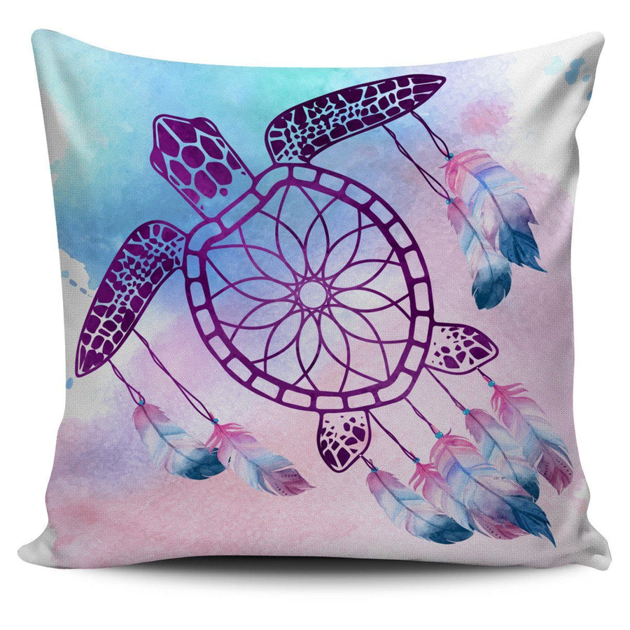 Sea Turtle Dream Catcher - Pillow Cover