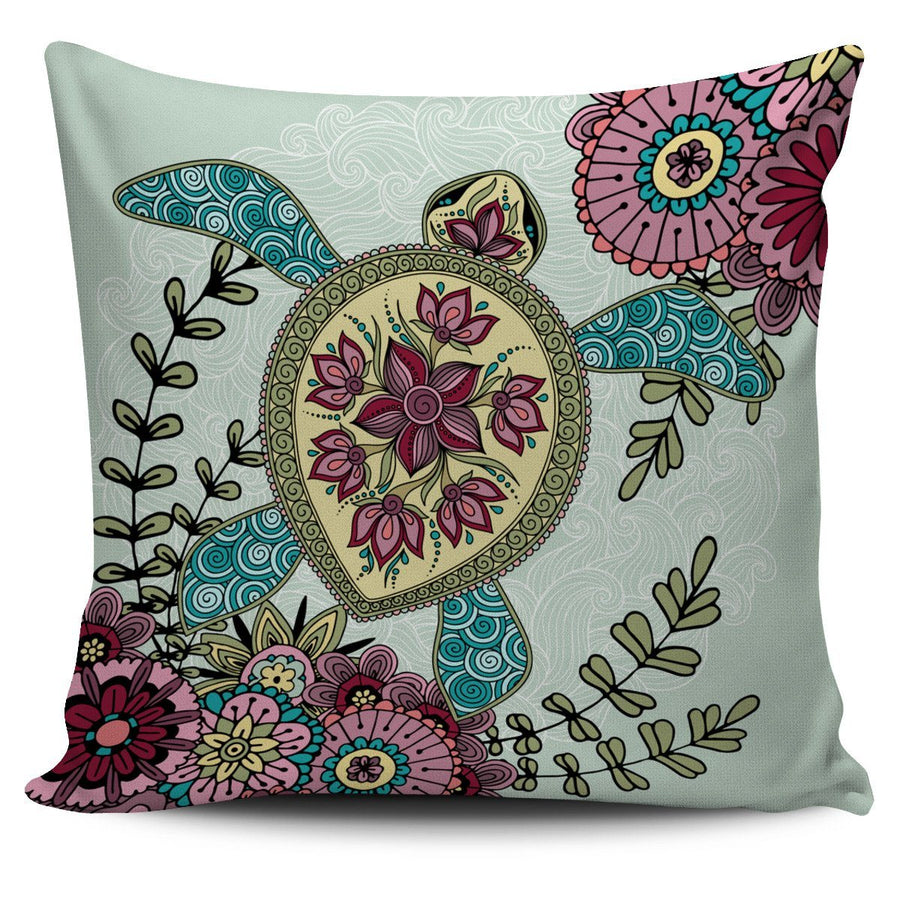 Zen Sea Turtle - Pillow Cover
