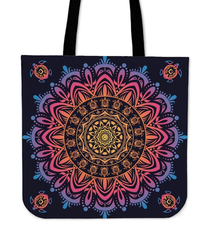 Beautiful Mandala Sea Turtle - Tote Bag