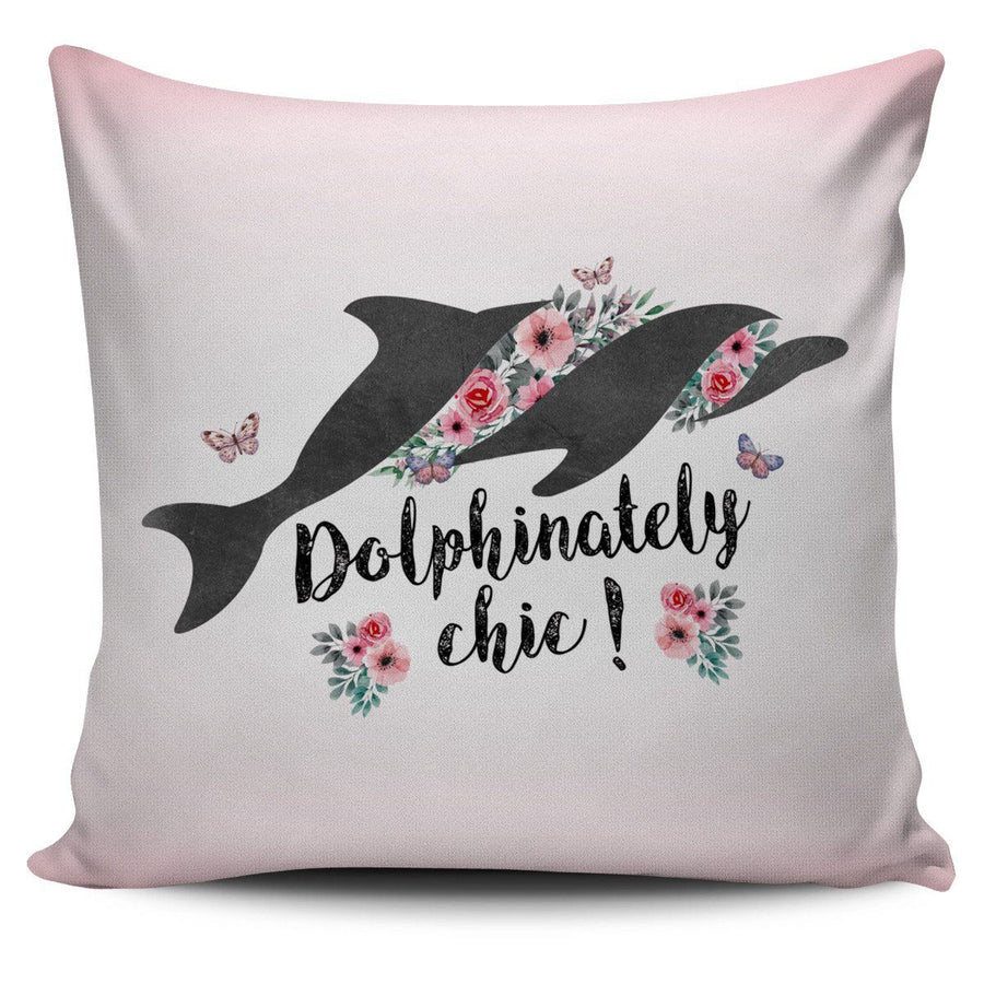 Dolphinately Chic Dolphin - Pillow Cover