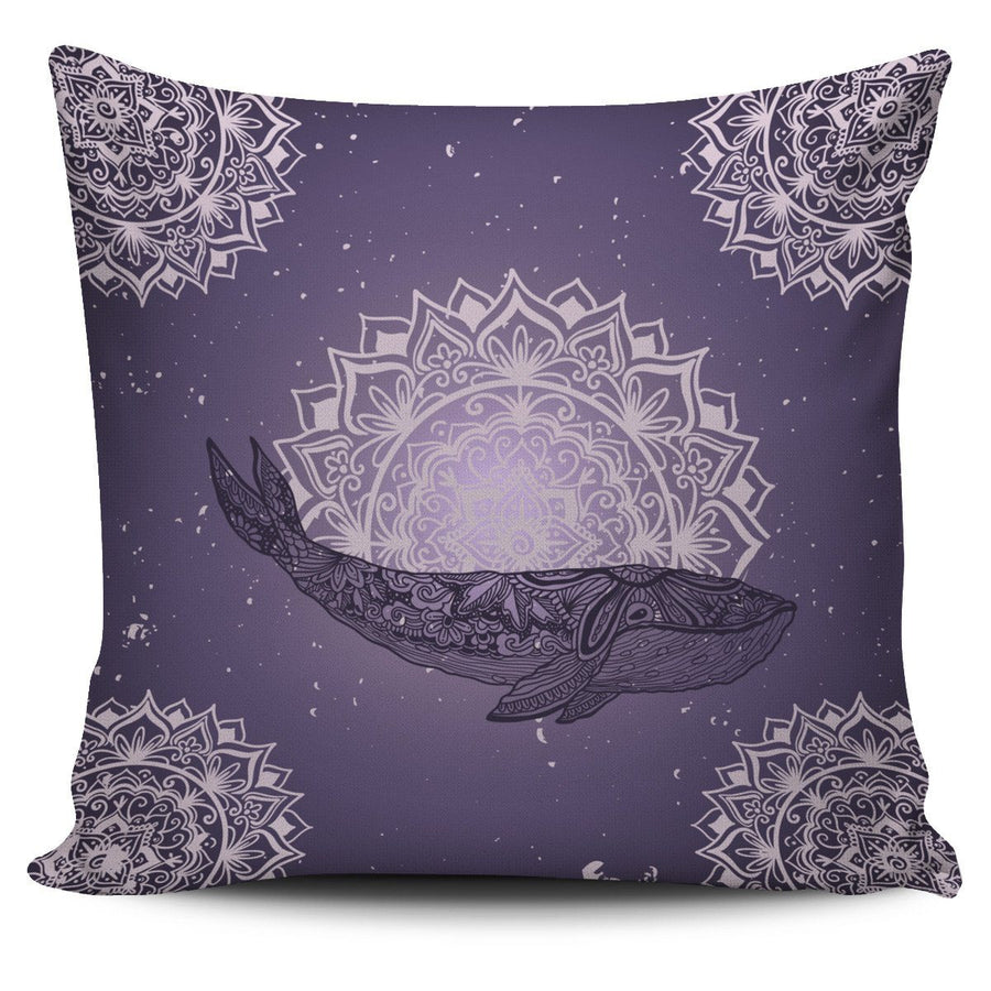 Purple Whale - Pillow Cover