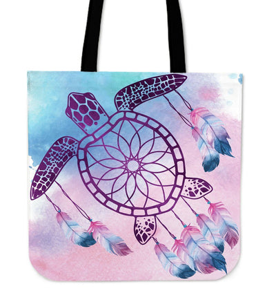 Sea Turtle Dream Catcher - Tote Bag - the ocean vibe Ocean Apparel