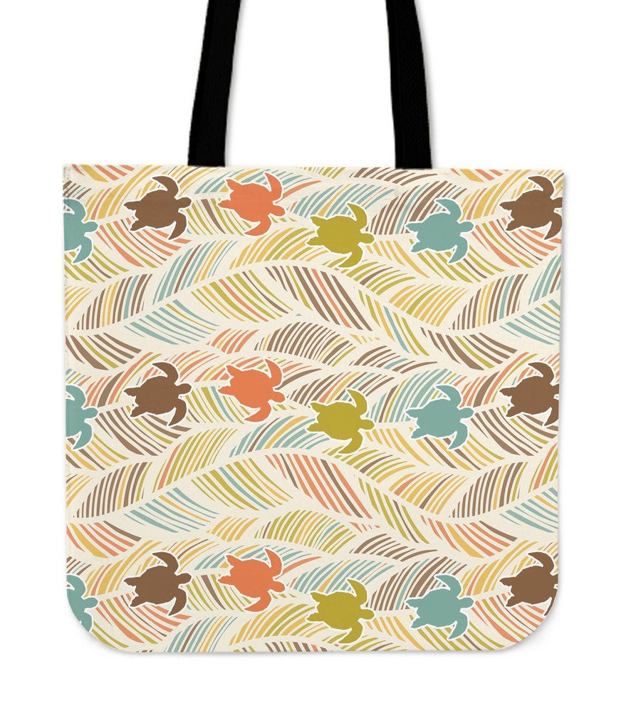 Boho Sea Turtle - Tote Bag - the ocean vibe Ocean Apparel