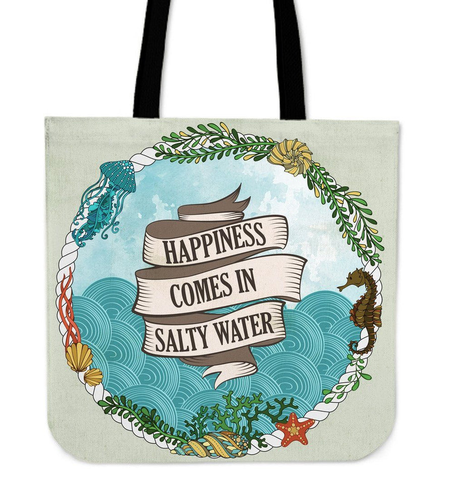 Salty Water - Tote Bag - the ocean vibe Ocean Apparel