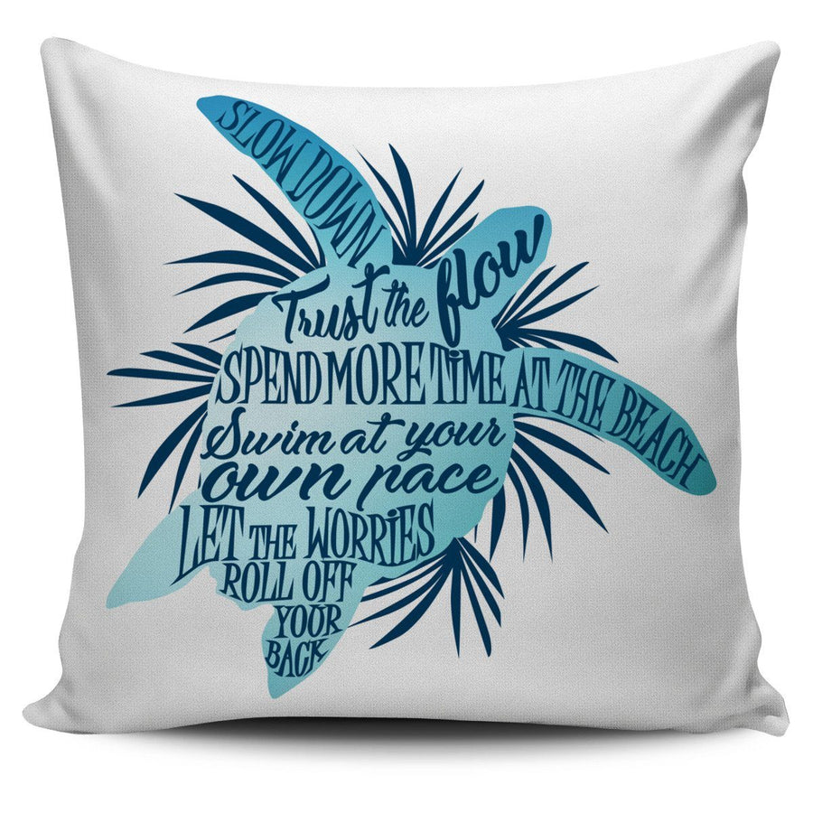 Sea Turtle Wisdom - Pillow Cover