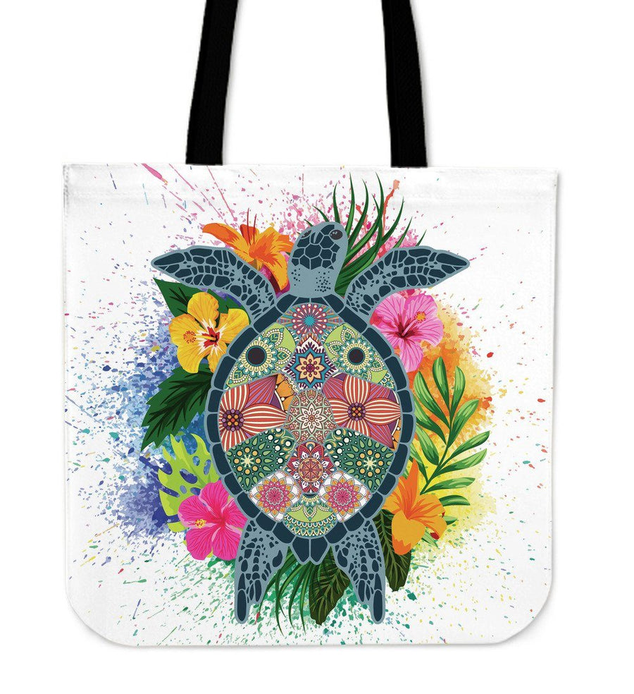 Hippie Sea Turtle - Tote Bag