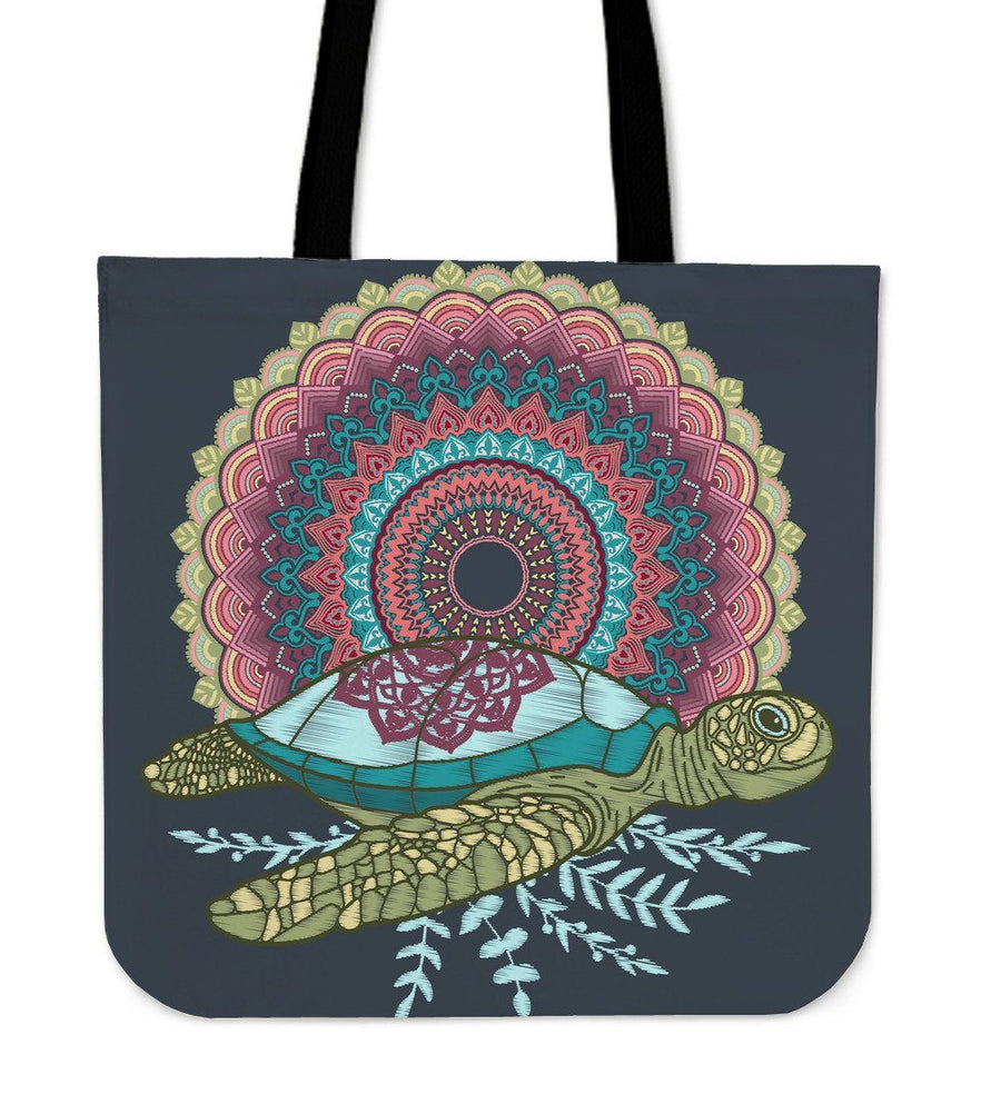 Mandala Sea Turtle - Tote Bag