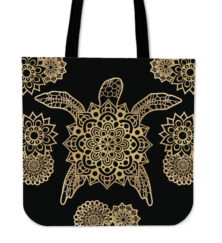 Golden Sea Turtle - Tote Bag - the ocean vibe Ocean Apparel