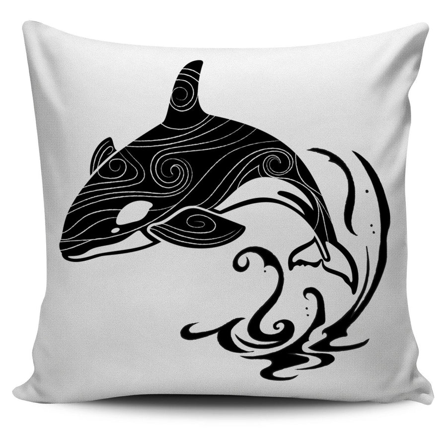 Orca In Storm - Pillow Cover