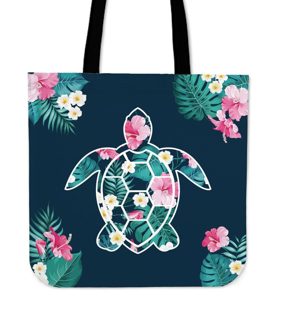 Flower Sea Turtle - Tote Bag