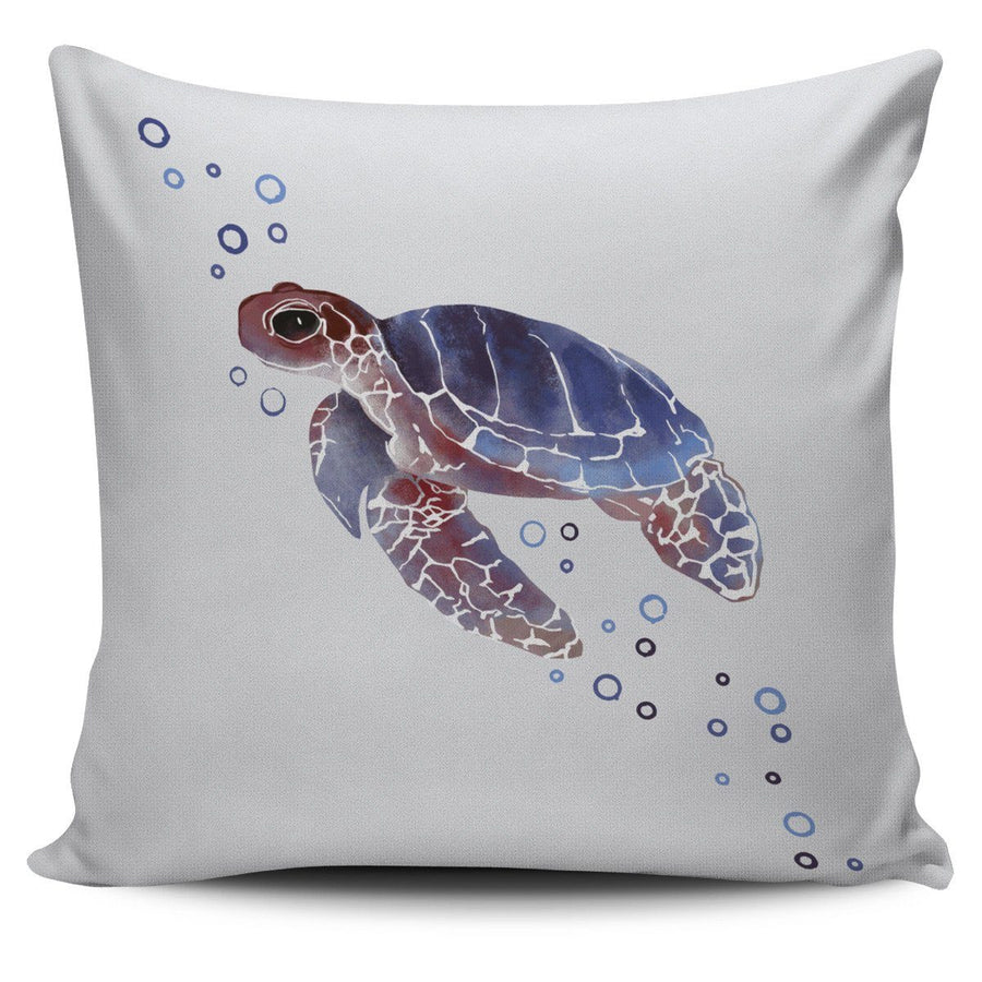 Watercolor Sea Turtle - Pillow Cover